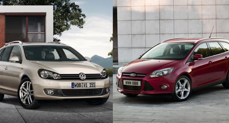 Occasion vergelijking: prijs je rijk met een Ford Focus of Volkswagen Golf