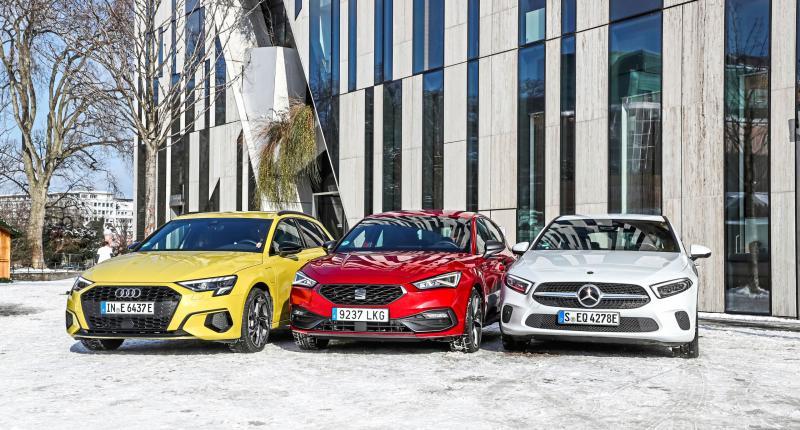 Test Audi A3 Sportback, Mercedes A-klasse, Seat Leon: wat is de beste plug-in hybride?