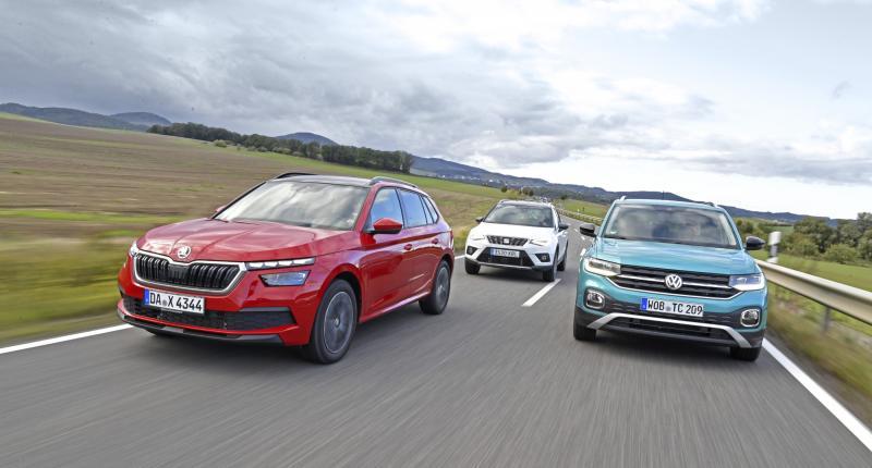 Skoda Kamiq, Seat Arona en Volkswagen T-Cross: dit is de beste van de drie