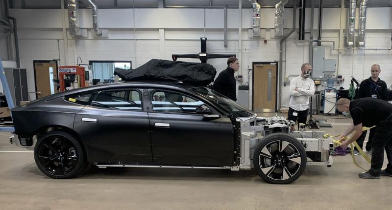 De productieversie van de Polestar Precept heeft wat Tesla-trekjes