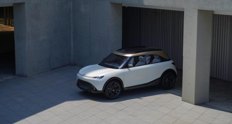De Smart Concept #1 is een elektrische SUV die nooit een originaliteitsprijs zal winnen