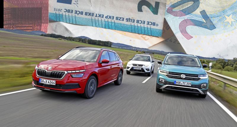 Test: Is de Volkswagen T-Cross duurder dan de Seat Arona en Skoda Kamiq?