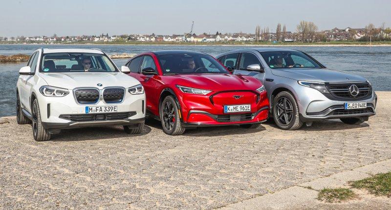 Test BMW iX3, Ford Mustang Mach-E en Mercedes EQC: waarom 2 elektromotoren niet altijd beter is