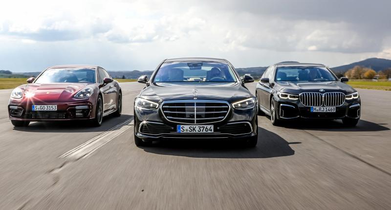 Test: 3 minpunten van nieuwe Mercedes S-klasse in vergelijking met 7-serie en Panamera