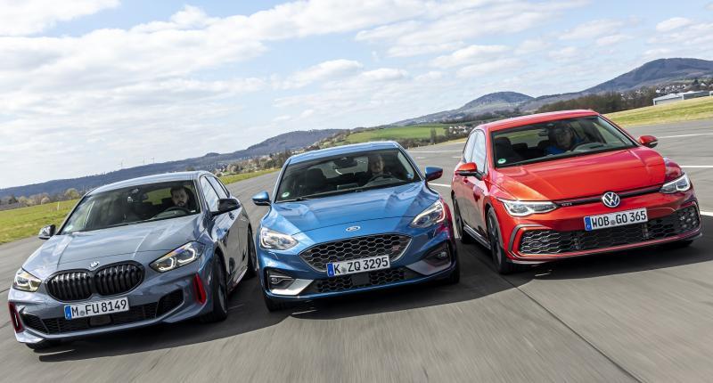Test BMW 128ti - Ford Focus ST - Volkswagen Golf GTI: met welke hot hatchback heb je de meeste lol?