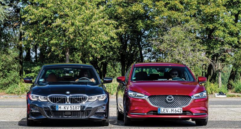 Test BMW 320i of Mazda 6 Skyactiv-G 194 - welke levert de beste prestaties?