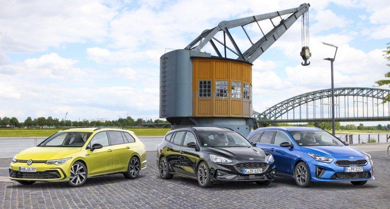 Test Ford Focus - Kia Ceed - Volkswagen Golf: maar welke stationwagon rijdt nou het fijnst van allemaal?