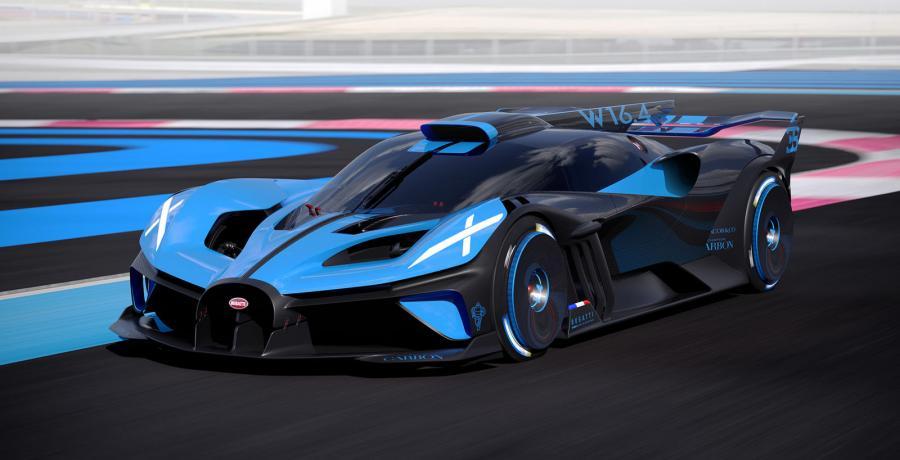 Whoah! Bugatti Bolide heeft 1850 pk en weegt 1240 kg
