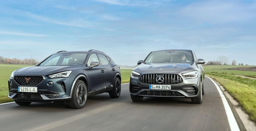 Test: zoveel kosten de Mercedes-AMG GLA 35 en Cupra Formentor 310 per pk