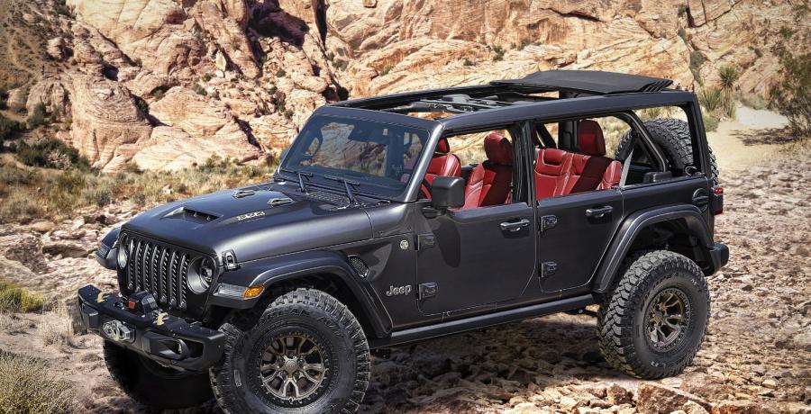 Jeep Wrangler met V8 verpest het Ford Bronco-feestje