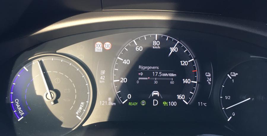 Mazda MX-30: actieradius gemeten bij 130 en 100 km/h
