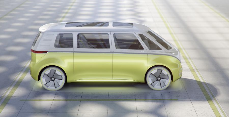 Je kunt de Volkswagen ID. BUZZ (2022) in Amsterdam bekijken