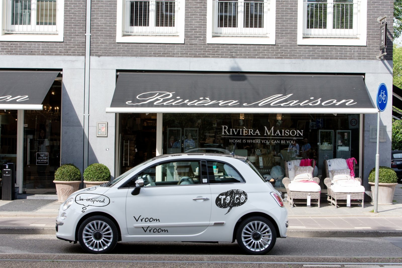 rivi ra maison maakt cht vrouwenautootje van fiat 500 autonieuws. Black Bedroom Furniture Sets. Home Design Ideas
