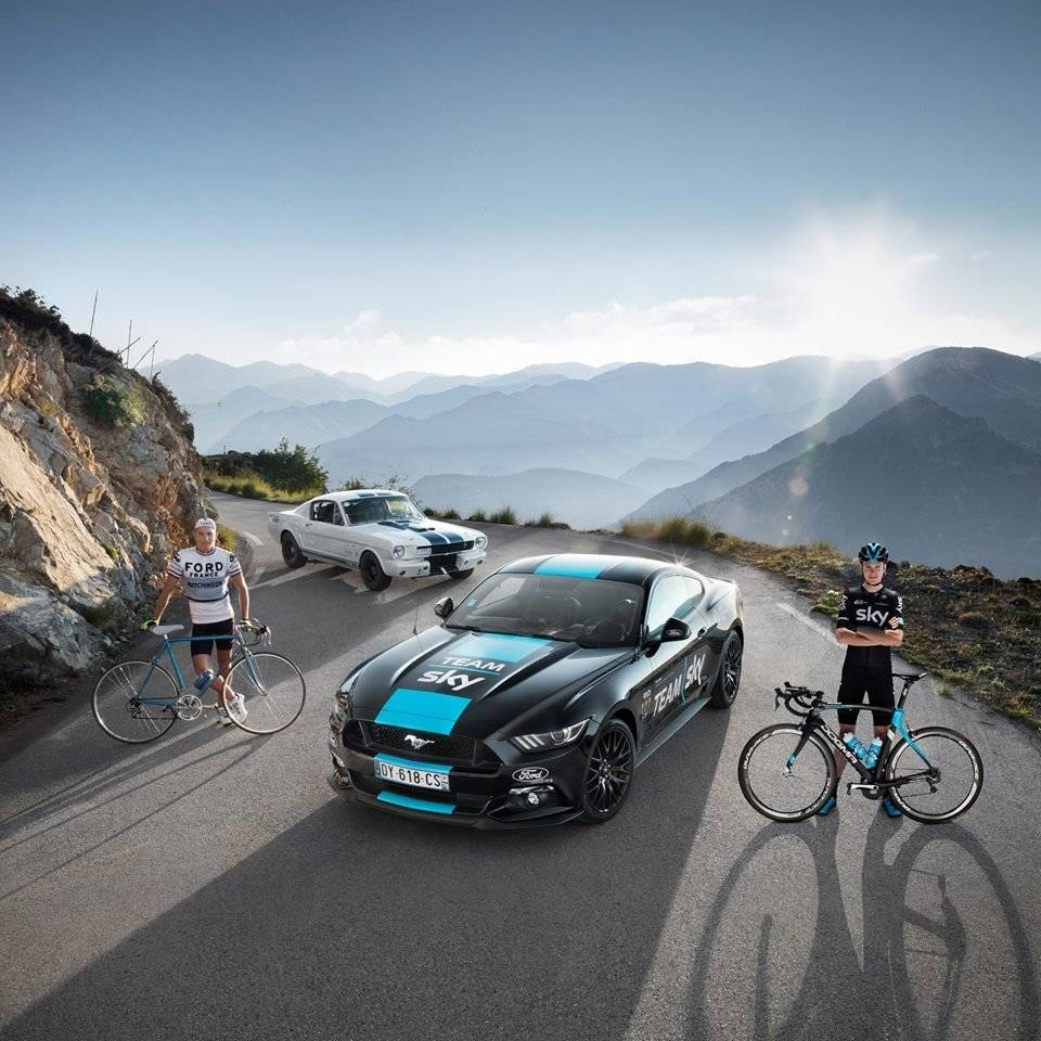 ford mustang voor team sky in tour de france autonieuws. Black Bedroom Furniture Sets. Home Design Ideas