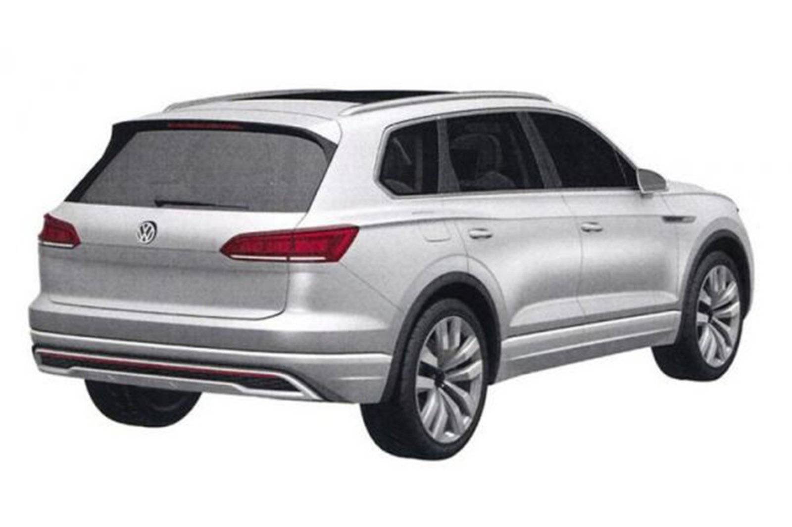 nieuwe volkswagen touareg duikt op autonieuws. Black Bedroom Furniture Sets. Home Design Ideas