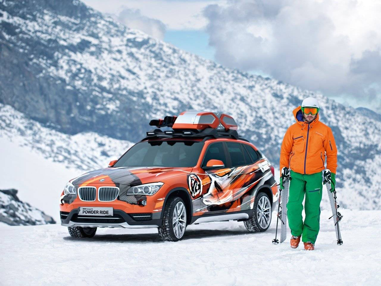 bmw zoekt met x1 de sneeuw op autonieuws. Black Bedroom Furniture Sets. Home Design Ideas