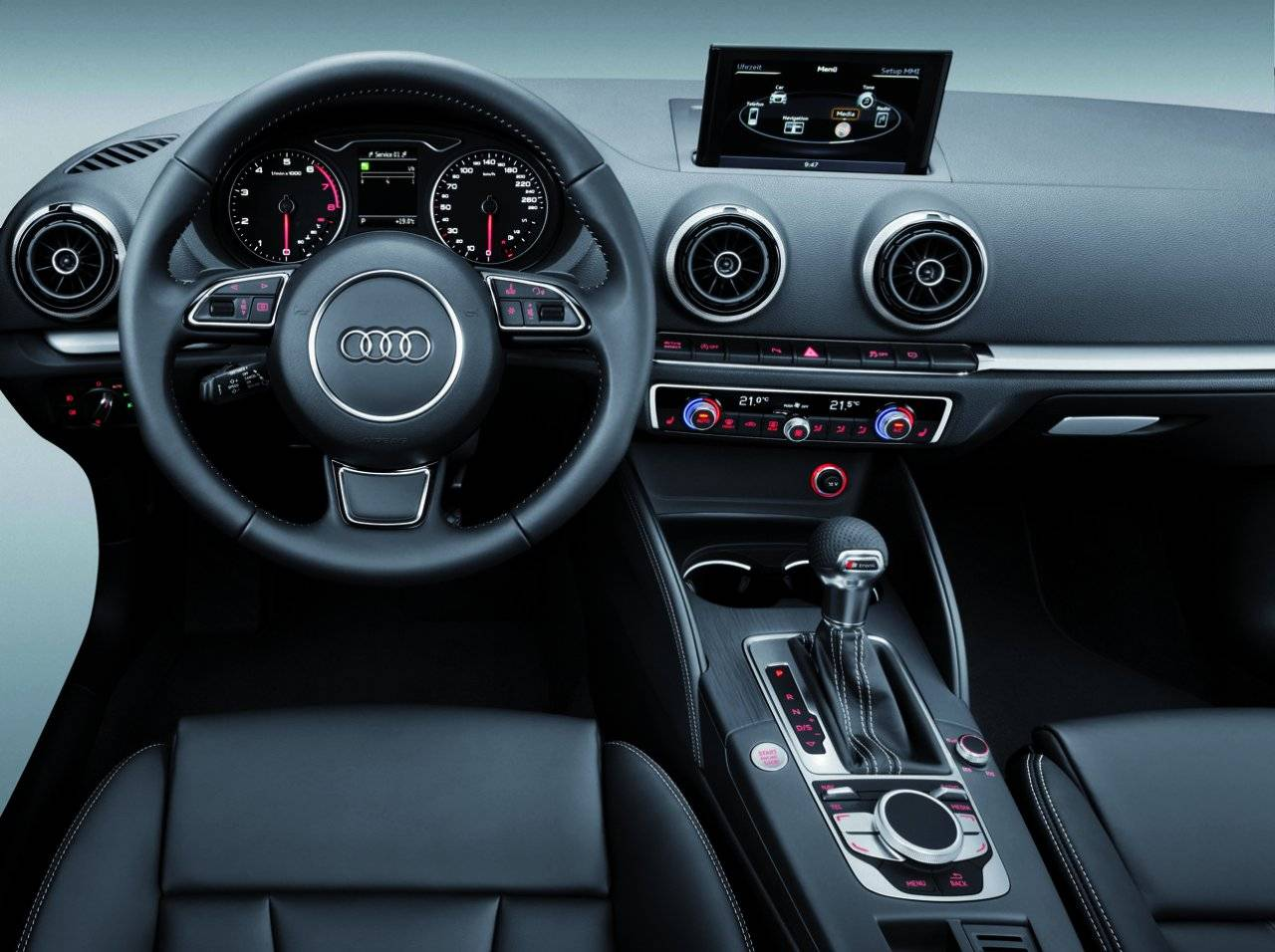 interieur mmi en glimp nieuwe audi a3 onthuld autonieuws. Black Bedroom Furniture Sets. Home Design Ideas