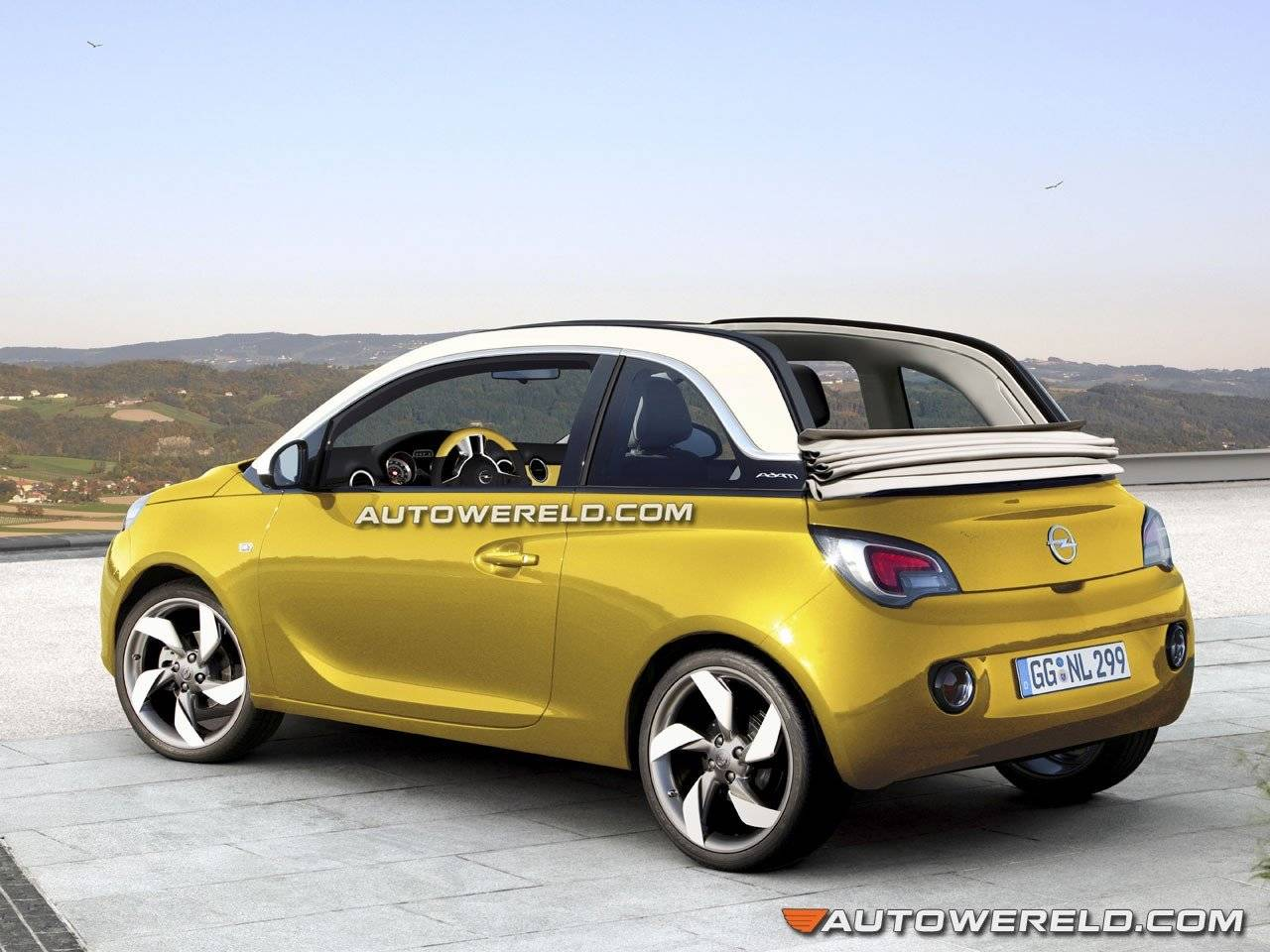 zo ziet de opel adam cabrio eruit autonieuws. Black Bedroom Furniture Sets. Home Design Ideas