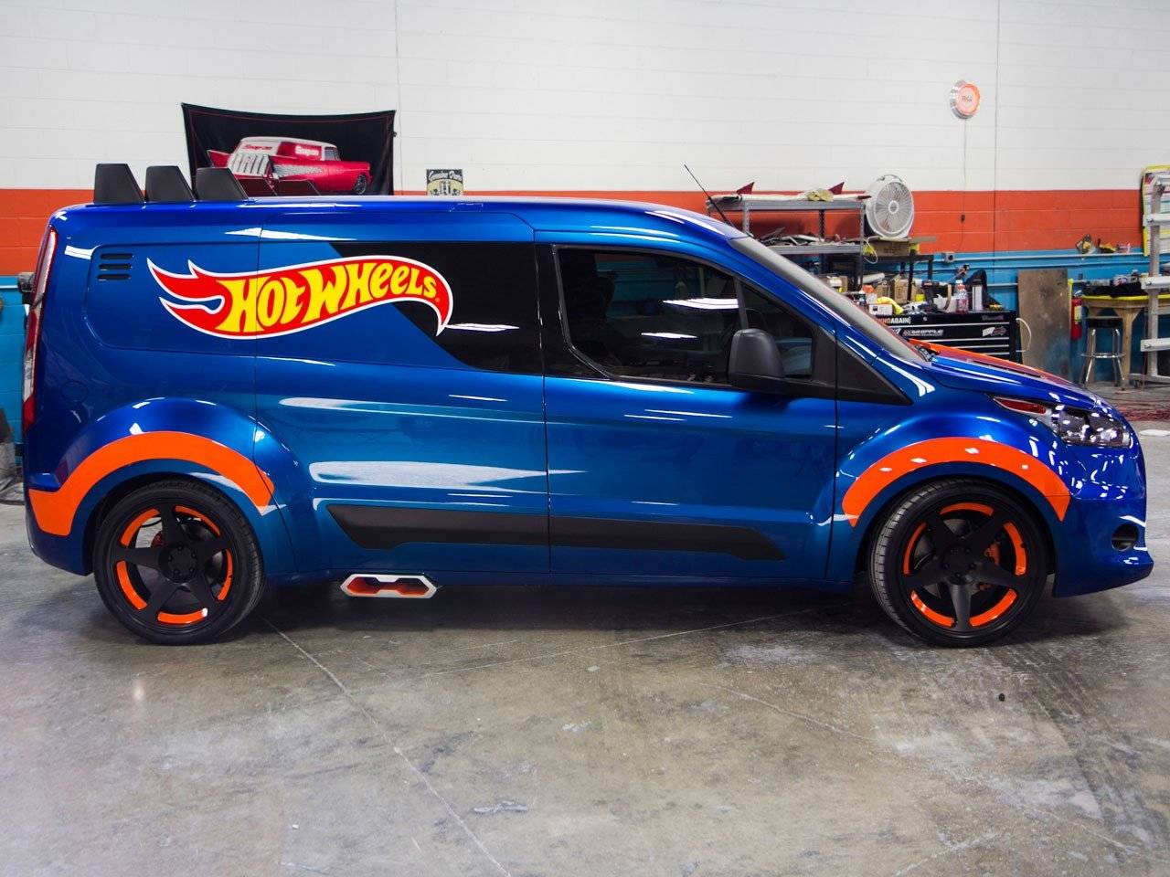 Leuk Speelgoed Ford Transit Connect Hot Wheels
