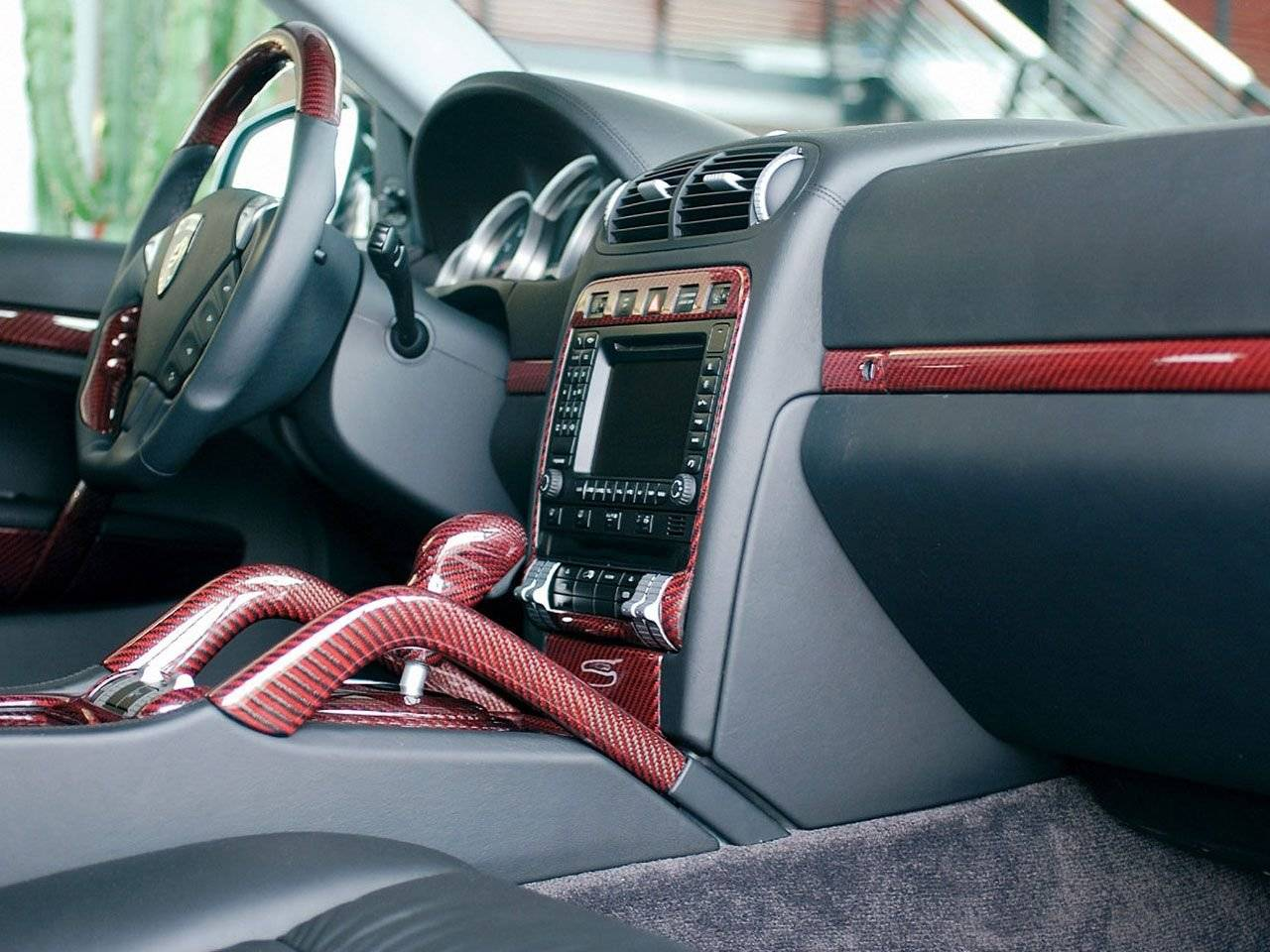 Carbon interieur voor porsche cayenne tuning styling for Carbon interieur