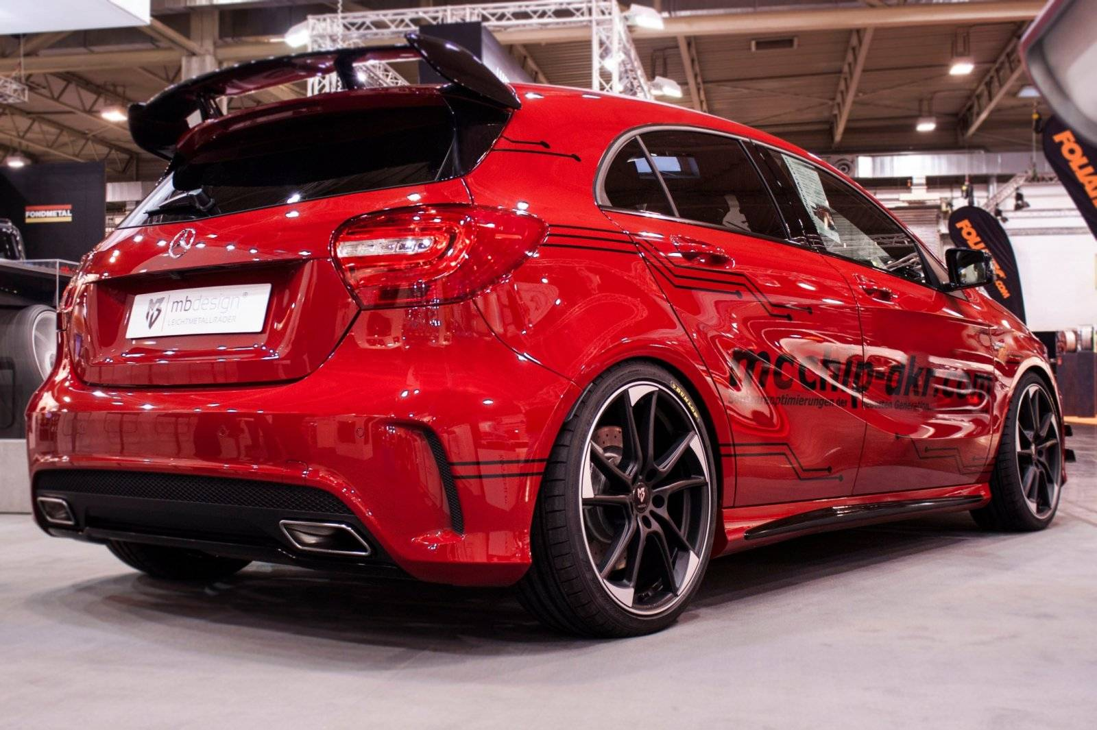 mercedes a45 amg naar 450 pk gechipt tuning styling. Black Bedroom Furniture Sets. Home Design Ideas