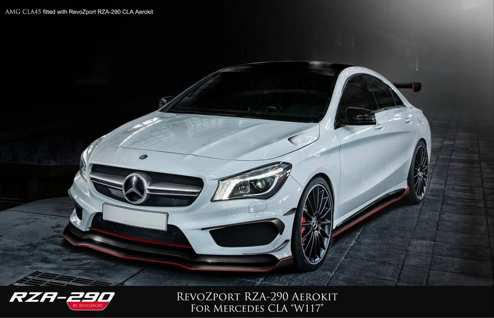 revozport geeft mercedes cla 45 amg vleugels tuning. Black Bedroom Furniture Sets. Home Design Ideas